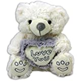 "Bär mit Herz ""Love You"" sitzend ca. 20 cm Plüsch, Liebesbär, Teddy, Teddybär"