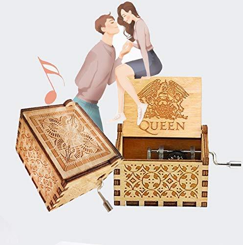 Greatest Hits Queen Bohemian Rhapsody Antiguo Tallado a Mano Caja Musical de Madera Caja de m/úsica Creativa de Madera artesan/ía Mejores Regalos para ni/ños Cuzit Queen Caja de m/úsica Amigos