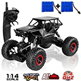 SZJJX RC Cars Off-Road Rock Vehicle Crawler Truck 2.4Ghz 4WD 1:14 Radio Remote Control Racing Cars Electric Fast Race Buggy Hobby Car Toy For Kids (Black)