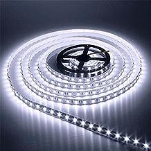 AUDEW 5m 3528 SMD 600 LED 12V Leiste Strip Streifen LED Band Lichterkette Lichtleiste Schlauch Weiß (nicht Adapter erhalten )