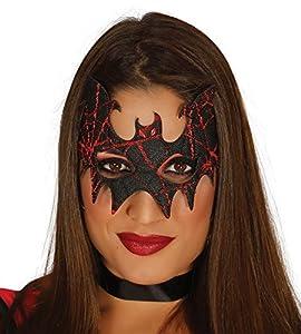 FIESTAS GUIRCA Máscara de la Tela de Brillo del murciélago para Disfraces de Halloween