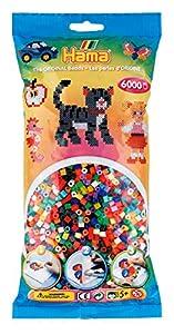 Hama 205-68 - Perlas de Planchar (tamaño Mediano, Aprox. 6000 Unidades en 52 Colores Diferentes