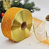 nbvmngjhjlkjl Decorazioni per L'Albero di Natale Decorazione Natalizia Filato di Perle Cipria Cerchio cerchiatura a Caldo Nastro/Nastro di Colore Natalizio - Arancione
