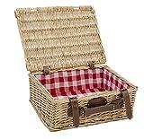 Wiederverwendbare Picknick leer aus Weide rot karriert
