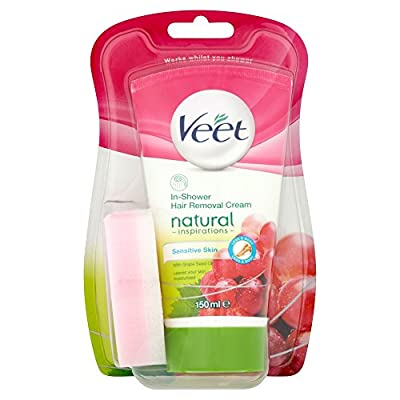 Veet Natural Inspirations in-Shower Hair Removal Cream, 150 ml