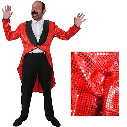 ROTER MÄNNER Frack/Tailcoat= Pailletten Jacke= DAS PERFEKTE KOSTÜM FÜR Jede TANZAUFFÜHRUNG - STEPTANZ -Fasching UND Karneval = DER SUPER KLASSE =Sequin= IN 6 VERSCHIEDENEN (Pailletten Frack Kostüm)
