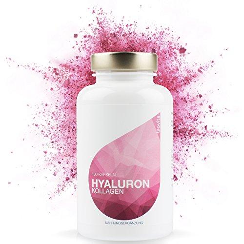 LEOVita Hyaluron Kollagen • Anti Aging • für ein gesundes, frisches und glattes Hautbild • Hyaluronsäure hochdosiert + Kollagen-Hydrolisat • 100 Kapseln • hergestellt in Deutschland • 100% Zufriedenheitsgarantie Test