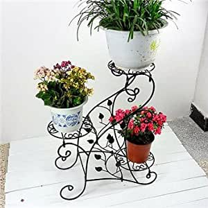 Asian arts Wrought iron FLOWER PLANT STAND