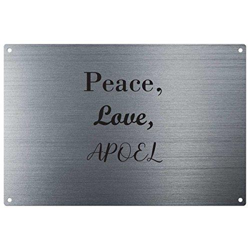 Amor, paz, APOEL Vintage decorativo para pared–listo para colgar