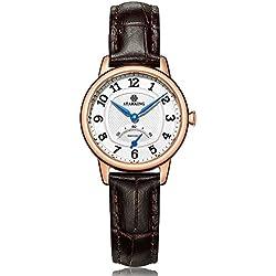 STARKING Women's BL0980RL91 Retro Stainless Steel Quartz Watch with Grey Leather Strap
