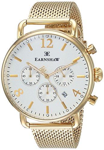 Thomas Earnshaw Es-8001-22 - Reloj Cronógrafo Para Unisex Adultos, Color Plata Oro