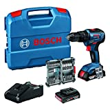 Bosch Professional 18V System Accuschroefklopboormachine GSB 18V-55 (Max. Draaimoment 55 Nm, Incl. 2x 2,0 Ah Accu + Oplader, 35-Delige Impact Accessoireset, in L-Case)