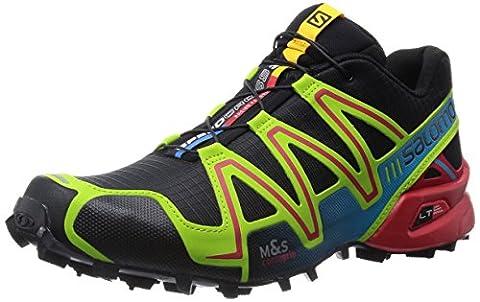 Salomon, Men, , speedcross 3, multi (black/granny green/rd),