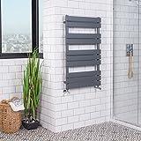 Designer Handtuchheizkörper Badheizkörper Handtuchhalter 1000x600mm Grau