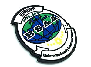 Resident EVil BSAA Europe Cosplay Airsoft Velcro PVC Patch