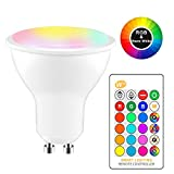 ONEVER 8W RGBW LED Bulb GU10 Cambiare colore atmosfera Illuminazione LED Lamp Flash Strobe Fade Mode Bar KTV luci decorative