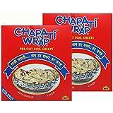Chapati Wrap Pre-Cut Foil, Size- 25c x 22cm, 100 Sheets - Set of 2