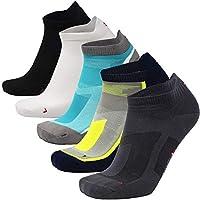 DANISH ENDURANCE Low Cut Pro Running Chaussettes, basses, lot de 5 ou 3 paires, homme et femme, sport, running, baskets, sneakers, fitness, utilisation quotidienne. Noires, blanches, grises, bleues