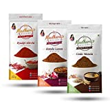 #10: Madhura's recipe Masala (Pack of 3) Goda Masala - Byadgi Mirchi Powder - Kanda Lasun Masala (100 gm Each)