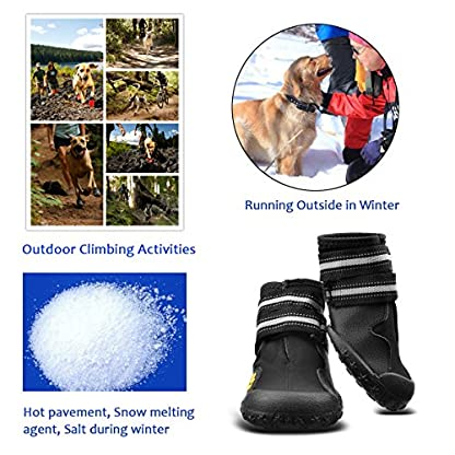 Royalcare Protective Dog Boots, Set of 4 Waterproof Dog Shoes with Wear-resistant and Rugged Anti-Slip Sole Suitable for… 6