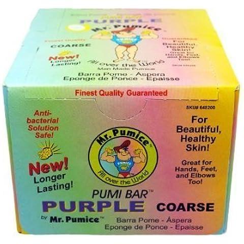 Mr. Pumice Pumi Bar Purple Extra-Coarse 1 Box (12 Counts)