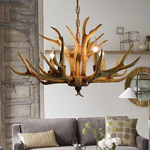 & Perfect ** - 5 Kopf - American Land Kronleuchter Nordic minimalistischen Geweih Kronleuchter retro Garten Lampen Schlafzimmer Esszimmer im europäischen Stil Wohnzimmer Kronleuchter American Leuchter