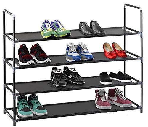Nalian Schuhregal, 2 bis 14 Regale (für 8 bis 56 Paar Schuhe), Breite: 88 cm – Grau oder Schwarz...