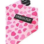 "UrbanPup Pink Hearts Bandana (Small - Dog Neck Circumference, adjusts: 8"" to 11"" / 20cm to 28cm) 6"