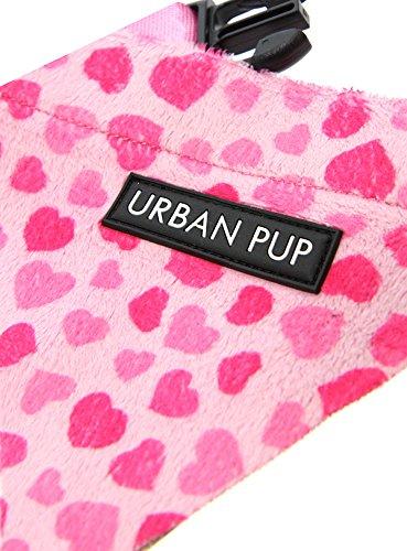 "UrbanPup Pink Hearts Bandana (Small - Dog Neck Circumference, adjusts: 8"" to 11"" / 20cm to 28cm) 2"