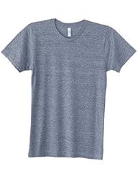 American Apparel Mens Triblend Short Sleeve Durable Track T-Shirt