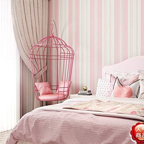 yhyxll Pink vertikale Streifen Tapete Vlies Stereo 3D Mädchen Prinzessin Kinderzimmer Schlafzimmer Hintergrundbild