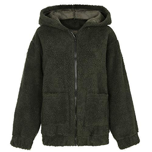 x8jdieu3 Winter Langarm Reißverschluss Plüsch Jacke einfarbig