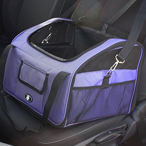 Pet Seat Belt >> Me & My Pets Cat/Dog Car Seat/Carrier - Purple