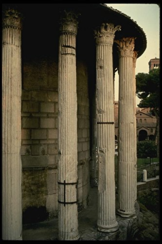 149008-the-long-columns-of-the-roman-vesta-temple-a4-photo-poster-print-10x8