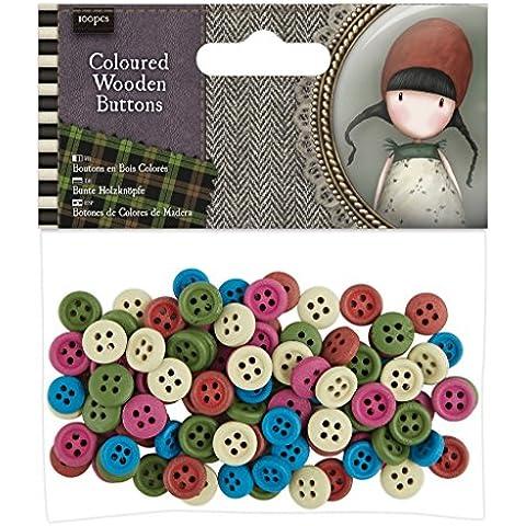 Santoro Tweed (docrafts)–Papel para manualidades de botones de madera (100piezas)