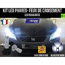 Kit de bombillas LED de alto rendimiento para faros H7 para Seat León 3