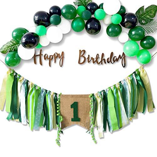 1. Geburtstag/Jubiläum - Handgemachte erste Geburtstagsfeier zum Aufhängen von Banner für Fotoautomaten Requisiten Geburtstag Souvenir Supplies ()