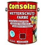 2,5 Liter Consolan Wetterschutzfarbe braun (208) bis 10 Jahre Langzeitschutz