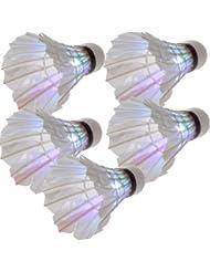 Dcolor 5 x Volant de badminton LED Lumiere coloree Pour la nuit