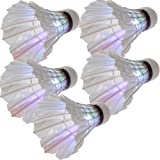 Dcolor 5 x Volant de badminton LED Lumiere coloree Pour la nuit