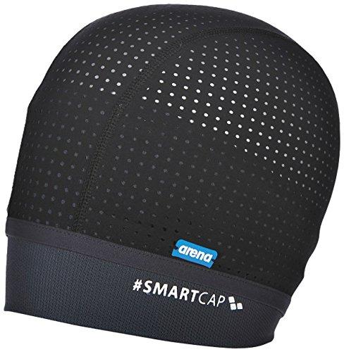 arena Unisex Badekappe Smartcap (Atmungsaktiv, Für Wassergymnastik, Haarband, Perfekt für lange Haare), Black (500), M/40 (Womens Bademode Größe 18)