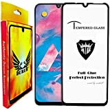 DURUM 11d 9h Tempered Glass For Samsung Galaxy A50 Protector Full Glue Edge to Edge Gorilla Screen Guard Coverage with installation kit (Black)