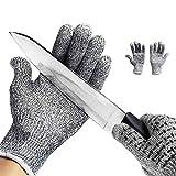 ZN&Z Schnittfeste Handschuhe Lebensmittelqualität Küchenhandschuh Level 5 Schutz für die Handsicherheit beim Schneiden Fleisch schneiden und Holzschnitzerei Yard-Arbeit erledigen 1 Paar