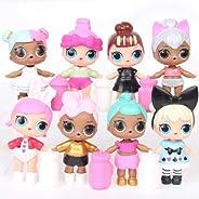 8pcs L.O.L Surprise Dolls Lovely Eyes PVC Figures Cake Topper Gift Kid Toy