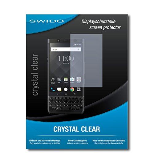 SWIDO Displayschutz für BlackBerry KeyOne Black Edition [4 Stück] Kristall-Klar, Hoher Härtegrad, Schutz vor Öl, Staub und Kratzer/Schutzfolie, Displayschutzfolie, Panzerglas Folie