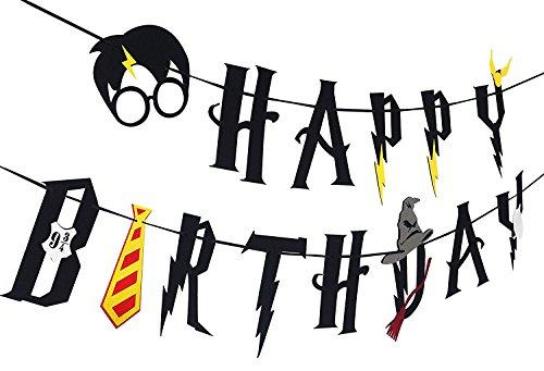 Decoración de Feliz cumpleaños Harry Potter