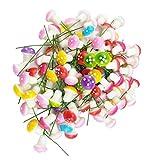Zhichengbosi 100Stück Mini-Pilz für Garten Ornament Flower Töpfe Bonsai Micro Landschaft Decor, Muti-Color