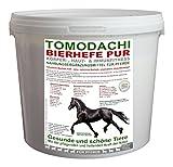 Bierhefe Pferd, 100% natürlich, unextrahiert, gegen Verdauungsprobleme und Hautprobleme beim Pferd, reich an Biotin, Vitaminen, Aminosäuren und Mineralien, fördert Darmflora und Stoffwechsel, stärkt das Immunsystem des Pferdes für gesunde Haut, perfekt glänzendes Fell, festes Hufhorn, Tomodachi Bierhefe Pur, unextrahiert, 100% Bierhefe ohne Biertreber 3kg Eimer