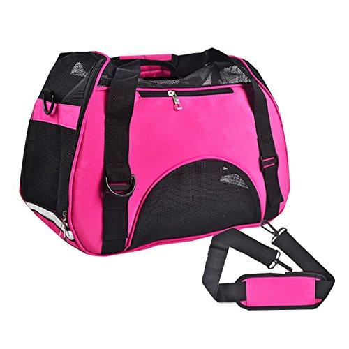 Lily 's Pet Carrier Mash Top und 4Seiten Weiche Seiten leicht faltbar Handtasche oder Schultertasche Outdoor Transportbox Hunde Katze Transportbox Transportkäfig Zelt Hundehütte