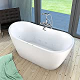 AcquaVapore freistehende Badewanne FSW23 180cm Whirlpool Luft & Wasser, Armatur:mit Armatur AFSW01 +210.-EUR